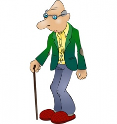Elderly man vector