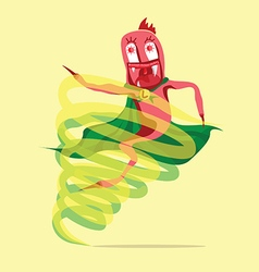 Super larva cartoon vector