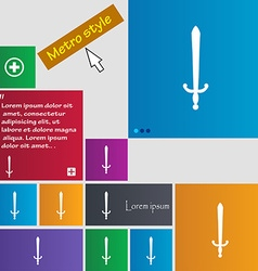 Sword icon sign buttons modern interface website vector