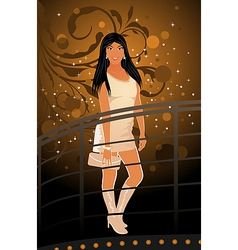 Night club girl vector