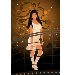 night club girl vector image