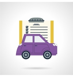 Automobile document flat icon vector