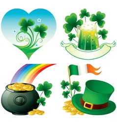 Saint patrick day icons vector
