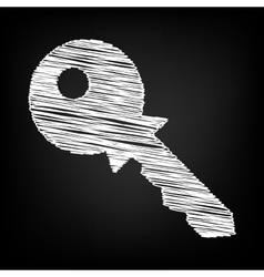 Key sign scribble effect vector