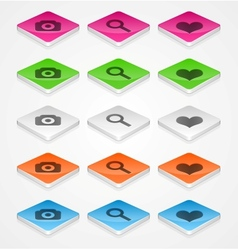 Isometric icons vector