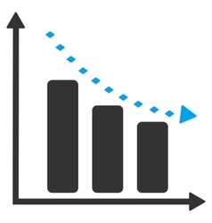 Dotted negative trend toolbar icon vector