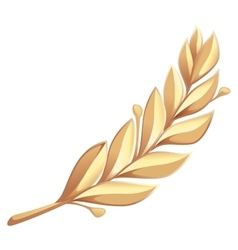 Golden laurel branch vector
