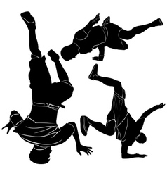 Collection breakdance break dance vector