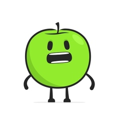 Funny cartoon apple vector