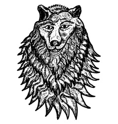 Abstract Wolf Sketch vector image vector image