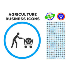 Beef purchase rounded icon with set vector