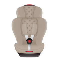 beige child car seat with elephants isolated on a vector image
