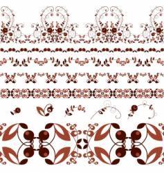 berry ornament vector image vector image
