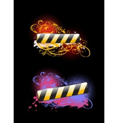 black background vector image vector image