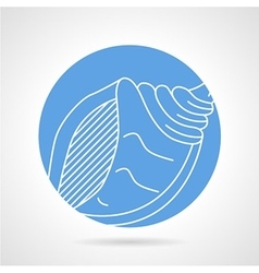 Blue icon for sea shell vector