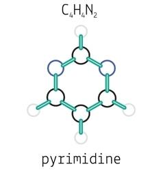 C4h4n2 pyrimidine molecule vector