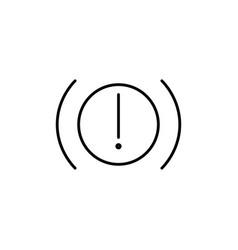 car brakes warning icon vector image vector image