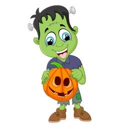 Cartoon frankenstein halloween vector