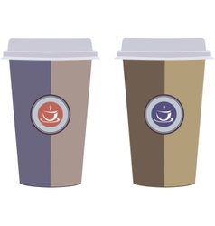 Coffee cups Isolated on a white background vector image vector image