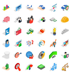 Creative work icons set isometric style vector