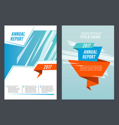 Design presentation brochure or annual report vector