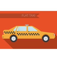 Flat design city Transportation city taxi side vector image vector image
