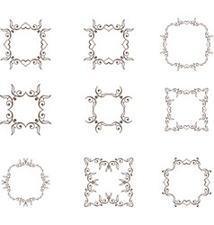 Floral heart frame vector