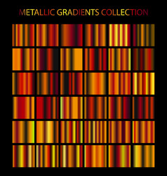 Golden cooper bronze colors gradients collection vector