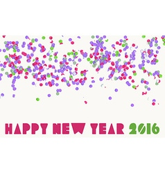 Happy new year 2016 confetti party holiday banner vector