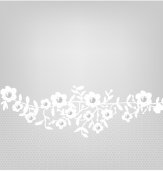 lace border on gray background vector image