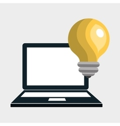 laptop idea innovation creative vector image