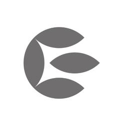 Letter e logo concept icon vector