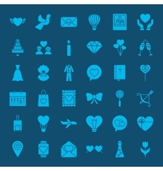 Love web glyphs icons vector