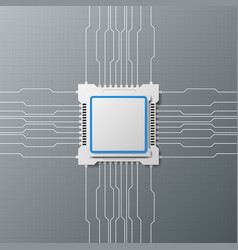 modern design technology with microchip vector image vector image