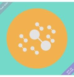 Molecule connect icon - vector image vector image