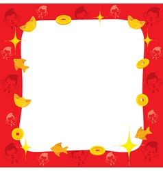 Monkey with chinese new year border vector
