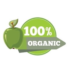 Natural organic fruits logo label badge template vector image