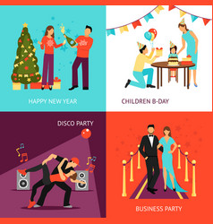 Party concept set vector
