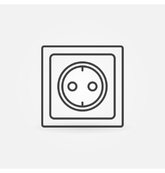 Power socket linear icon vector