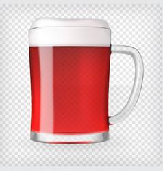 Realistic mug with beer vector