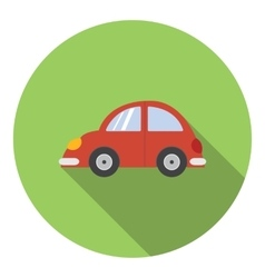Red car icon flat style vector image