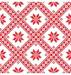 Seamless ukrainian slavic folk emboidery pattern vector