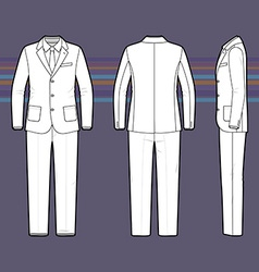 Simple outline drawing of a mens suit vector image
