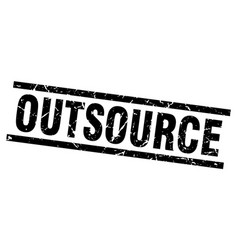 Square grunge black outsource stamp vector