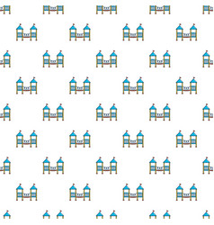 two castle kid pattern seamless vector image vector image