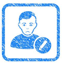 User modify pencil framed stamp vector