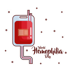 World hemophilia day icons vector