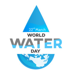 World water day white background greeting card vector