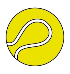 Tennis sport ball equipment icon vector