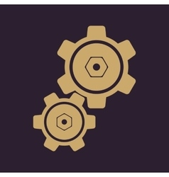 The settings icon gears symbol vector